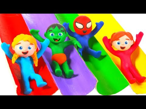 Tommy And His Friends Having Fun On The Slides 💕 Cartoons For Kids