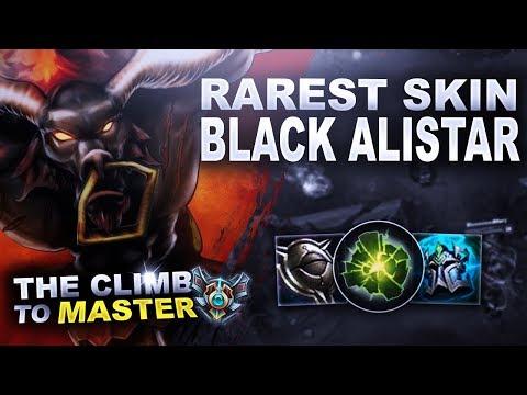 BLACK ALISTAR! RAREST SUPPORT SKIN! - Climb to Master | League of Legends thumbnail