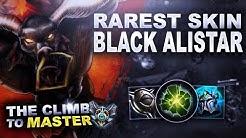 BLACK ALISTAR! RAREST SUPPORT SKIN! - Climb to Master   League of Legends
