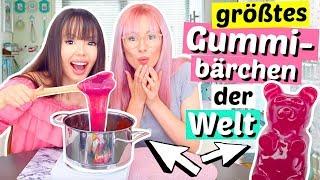 2 Verrückte machen das größte Gummibärchen der Welt 😳 XL DIY | ViktoriaSarina