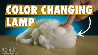Color-Copying Chameleon Lamp matches anything you set it upon.