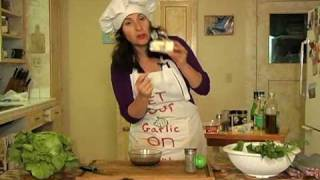 """""""get Your Garlic On"""": Italian Organic Salad Dressing With Fresh Herbs, Garlic, Olive Oil & Cheeses"""