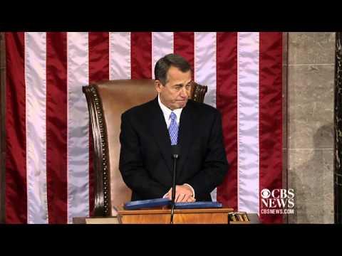 Newly reelected Speaker Boehner addresses House