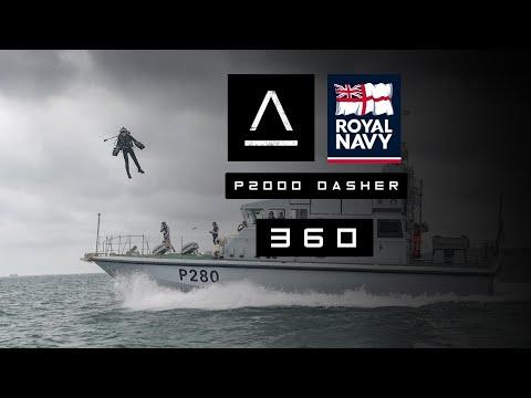 360 - Flying Alongside & Landing On A Royal Navy Patrol Boat!