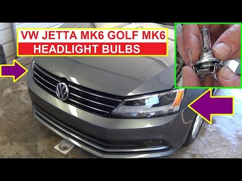 How to Remove and Replace Headlight Bulb on VW Jetta MK6 Vw Golf MK6