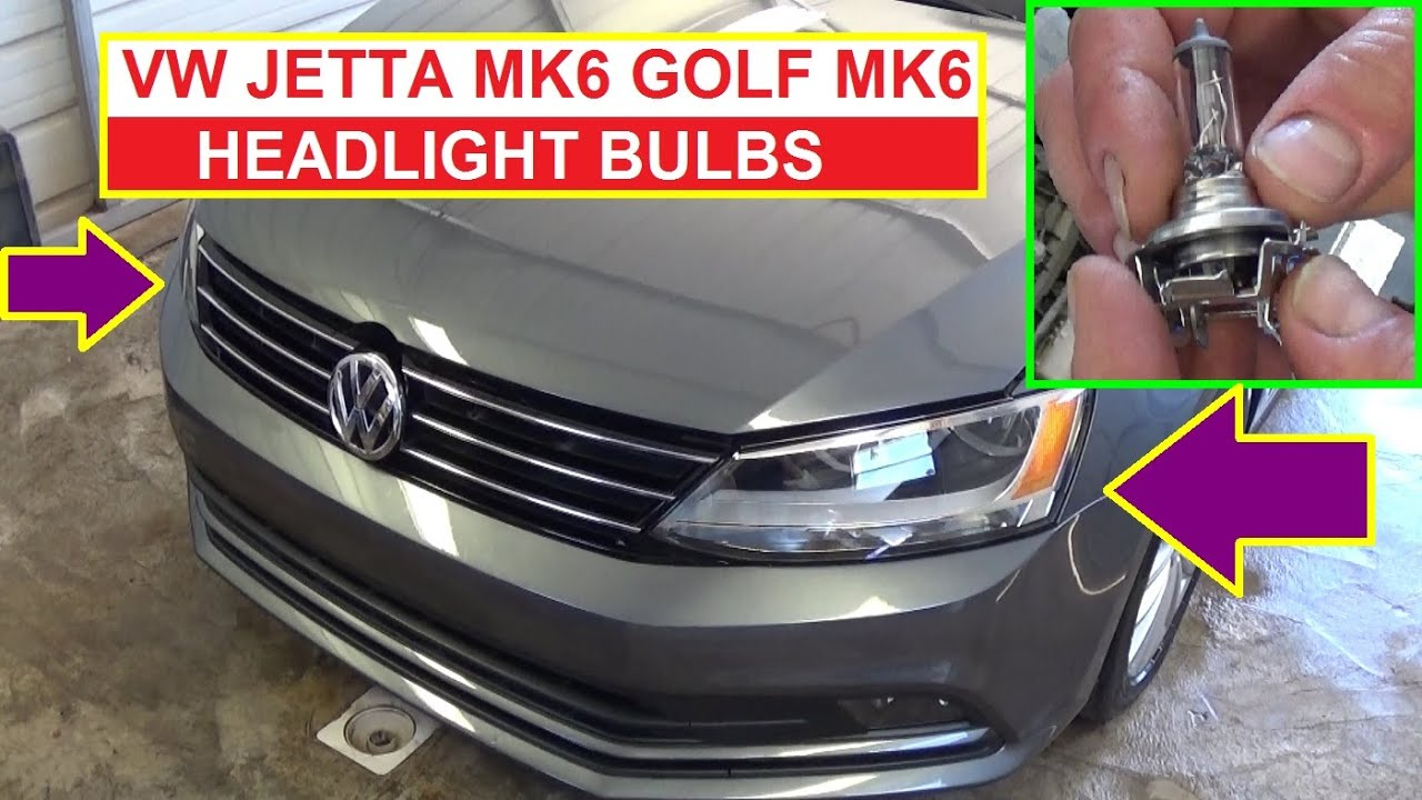 how to remove and replace headlight bulb on vw jetta mk6