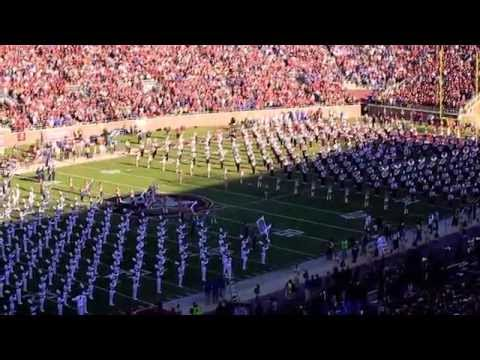 UF & FSU COMBINED BANDS PLAY NATIONAL ANTHEM 11/29/2014