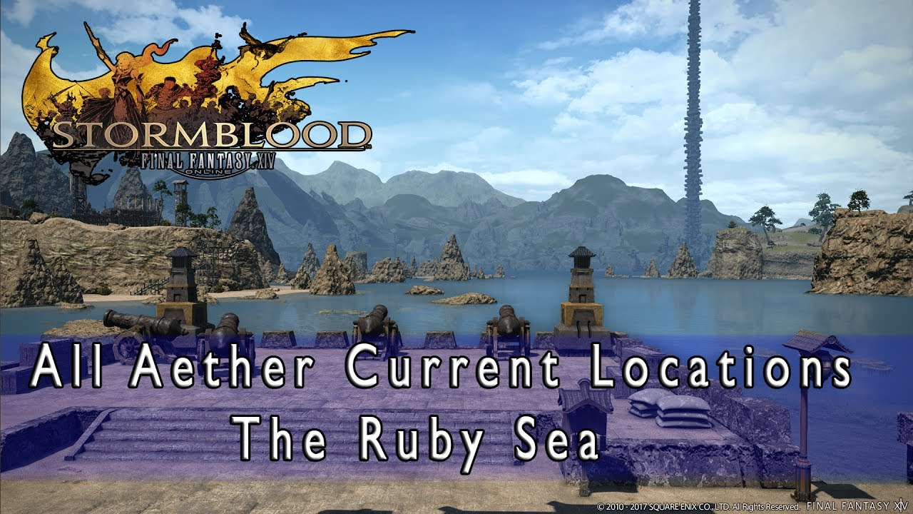 Final Fantasy Xiv Stormblood Find All The Aether Currents Locations To Fly In The New Areas