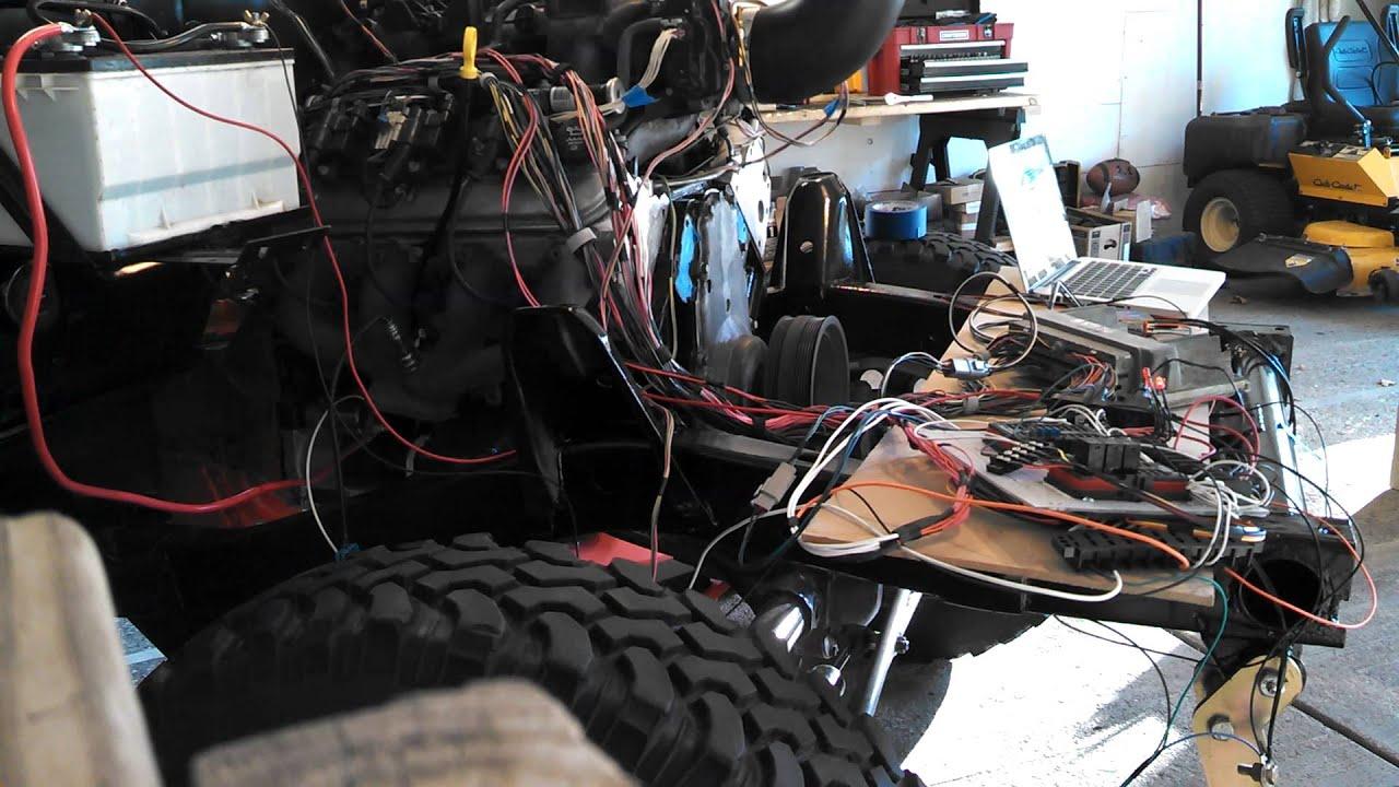 Test starting gm 6 0l lq4 in jeep