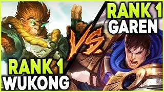 Download RANK 1 WUKONG WORLD VS. RANK 1 GAREN NA RISTE | BATTLE OF THE ONE TRICKS! - League of Legends Mp3 and Videos
