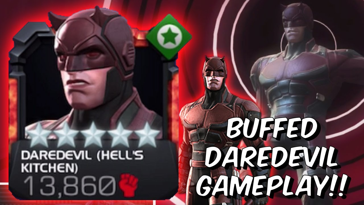 Netflix Daredevil Buff First Look Daredevil Hell S Kitchen Marvel Contest Of Champions Youtube