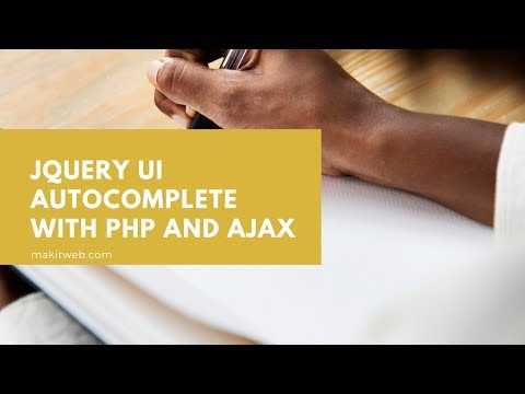 jQuery UI autocomplete with PHP and AJAX thumbnail