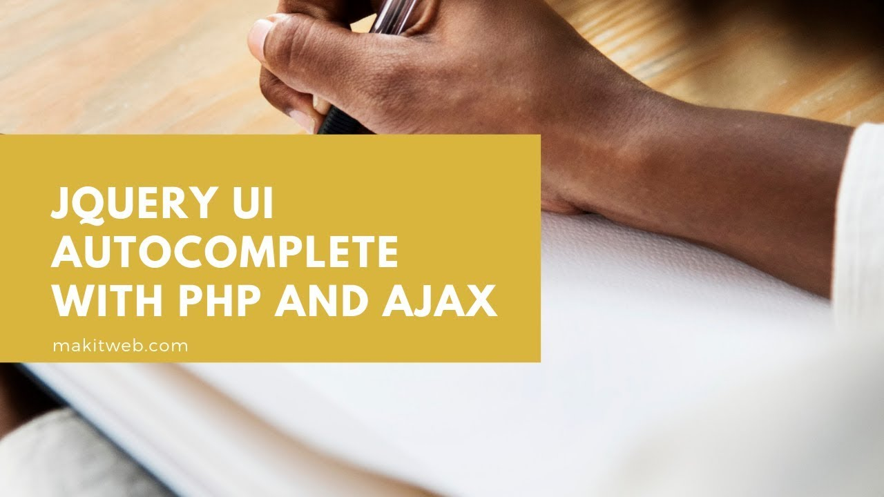 jQuery UI autocomplete with PHP and AJAX