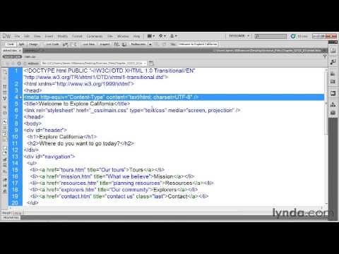 Lynda com HTML5 Structure, Syntax, and Semantics 06