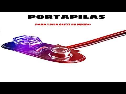Video de Portapilas para 1 pila 6LF22 9V  Negro