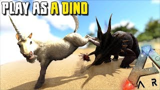 THE UNICORN CAN TAME CREATURES !! | PLAY AS A DINO | ARK SURVIVAL EVOLVED