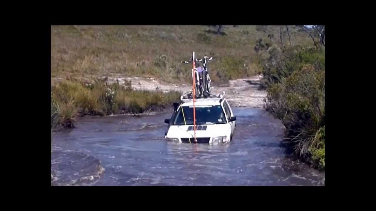 subaru offroad almost stuck balfour track tasmania