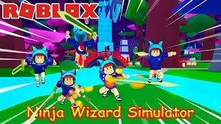 RobLox l Ninja Wizard Simulator l FIGHT THE NINJA, NAMLKUN HANDICAP ALL l NamlKun