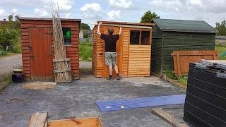 Ricks Allotment (ep94) Home Made Greenhouse (part 1)