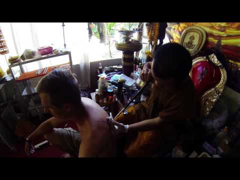 Getting a Sak Yant Tattoo from a Monk in Thailand