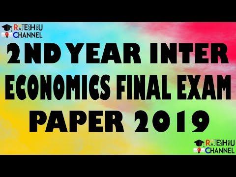 2nd year Inter Economics Final Exam Paper 2019.