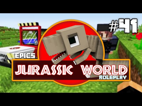 Minecraft Jurassic World: Run away Supercroc & Bloopers (41) Dinosaurs Roleplay