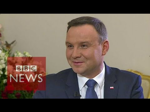 We're 'Euro-realists' not Eurosceptics says Polish President Andrzej Duda - BBC News
