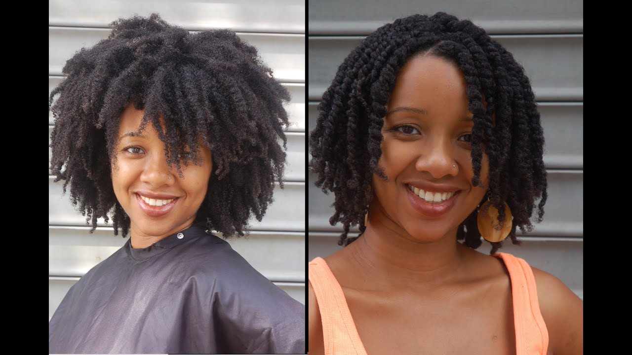 How to make Twists in 4C Hair and all other natural hair types