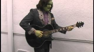 Creed Bratton Plays Guitar on the Set of The Ghastly Love of Johnny X