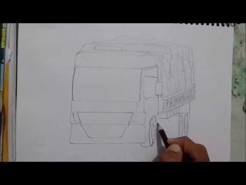 desenhando caminhão mercedes benz atego youtube