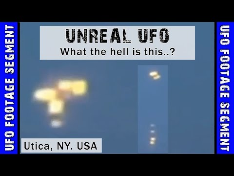 UFO SIGHTING VIDEO • Several Objects Drop From It • Utica NY USA