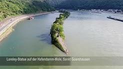 Rhein-Lahn von oben (13): Kaub, Sankt Goarshausen und Nastätten