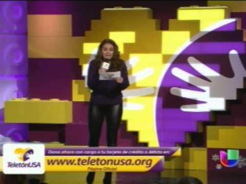#TeletónUSA Lucero con Cristián De la Fuente + presentación a Daniela Romo