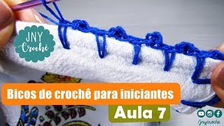 Video Bico de crochê simples, fácil e rápido para iniciantes   AULA 7 - JNY Crochê download MP3, 3GP, MP4, WEBM, AVI, FLV Juli 2018