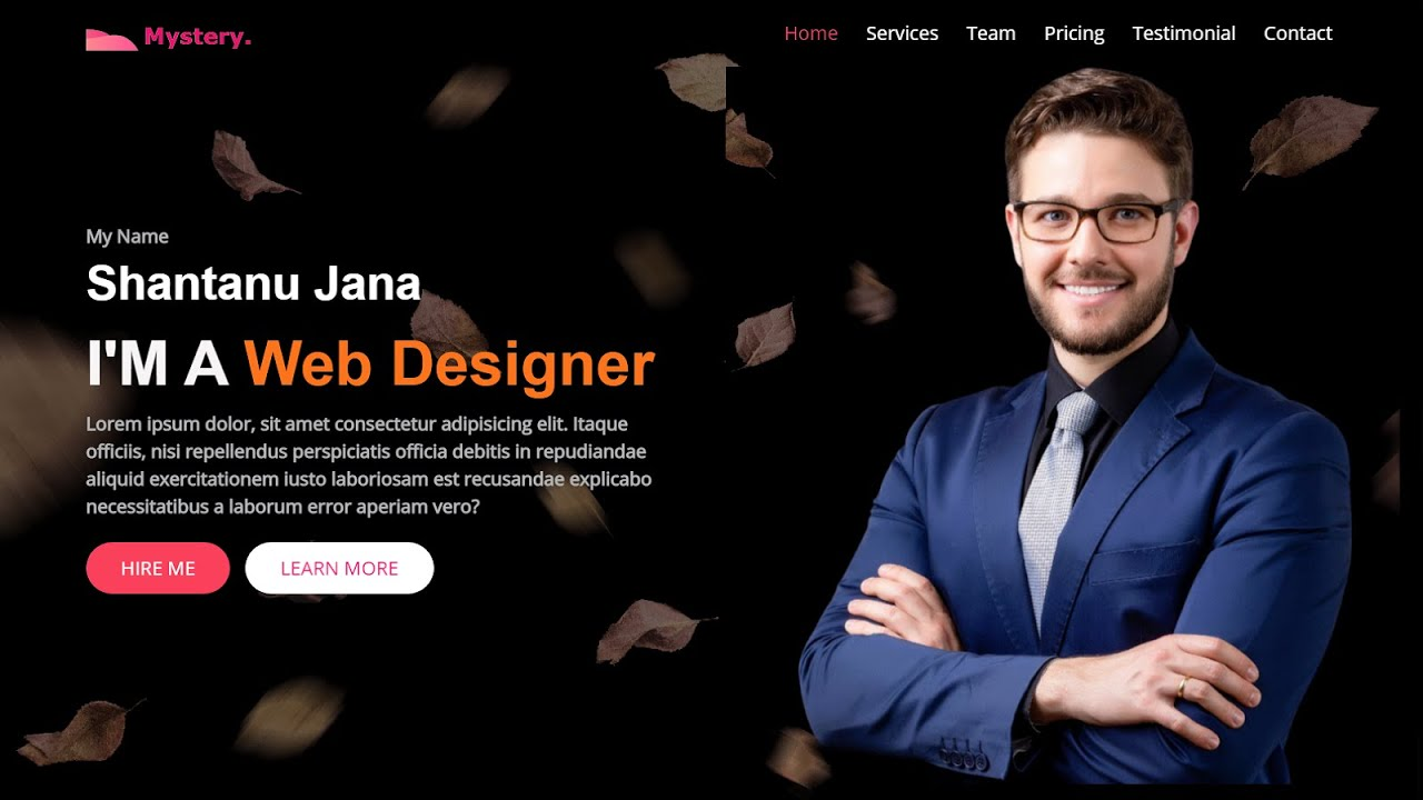 Create a Personal Portfolio Website Using HTML CSS and JavaScript