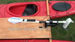 Kayak Catamaran with electric trolling motor Haswing Osapian Part 1
