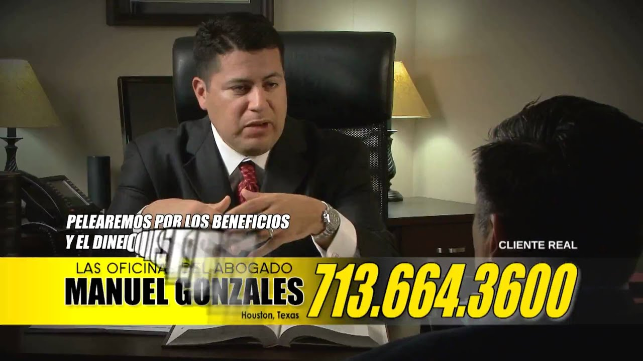 auto accident attorney in houston texas manuel gonzales spanish tv ad youtube. Black Bedroom Furniture Sets. Home Design Ideas