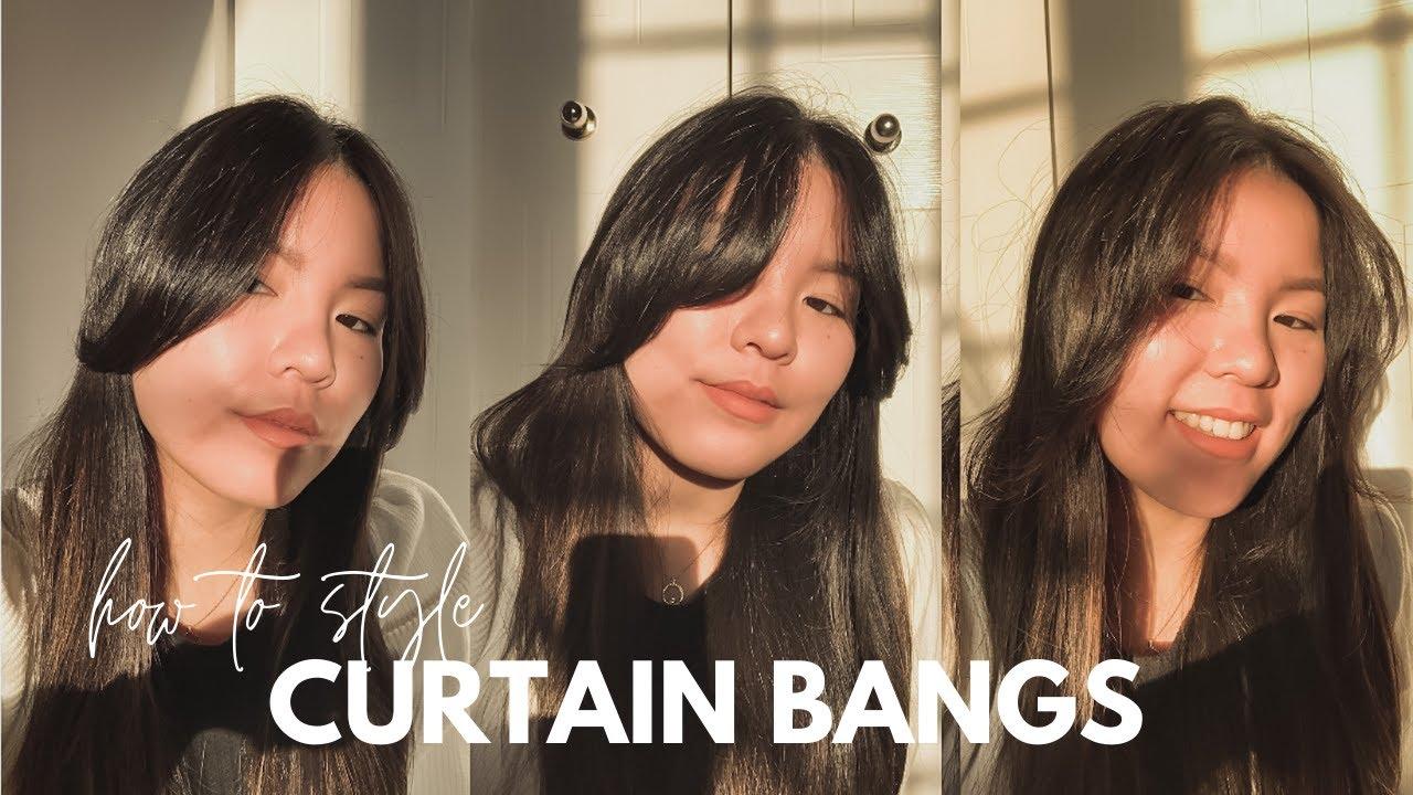 How I Style My Curtain Bangs 3 Ways Youtube