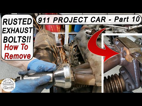 Porsche 911 3.2 Carrera Project #10 - Exhaust Removal!