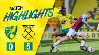 HIGHLIGHTS | Norwich City U18 0-5 West Ham United U18