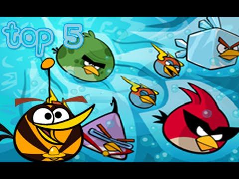 top 5 angry birds space characters youtube