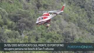 Recupero persona sul monte di Portofino