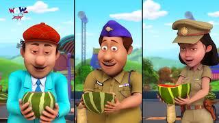 Chacha Bhatija | Nepali Cartoon | Water Melon Attack  | Nepali Story for Kids | Wow Kidz Nepali