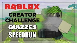 Roblox Creator Challenge Quizzes Speedrun in Under a Minute