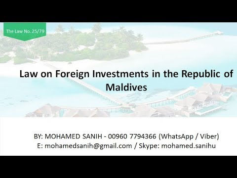 Law on Foreign Investments in the Republic of Maldives