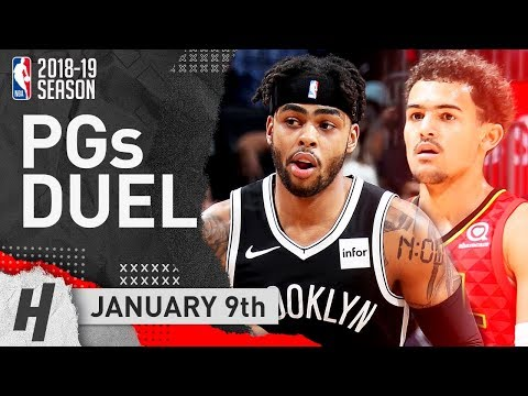 D'Angelo Russell Teaches Trae Young A LESSON! PG Duel 2019.01.09 | NBA Highlights