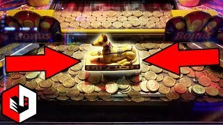 Game | Winning The Coin Pusher JACKPOT! Ticket Wins at Pharaohs Revenge Arcade Game | Winning The Coin Pusher JACKPOT! Ticket Wins at Pharaohs Revenge Arcade Game