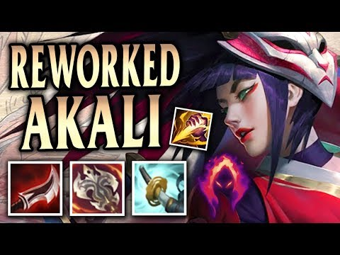 New Reworked AD Akali Jungle One-Shots! Blood Moon Akali - League of Legends S8