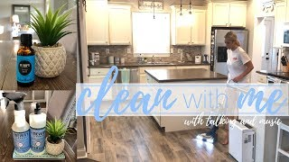 Clean With Me w/ talking and music   Speed Cleaning   Cleaning Motivation