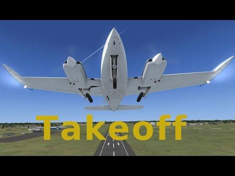 Military Visualizations Cessna 310 Tutorial. Video 4, Takeoff
